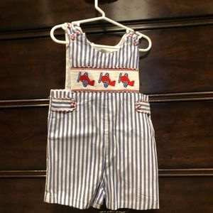 NWOT Lil Cactus romper with helicopter detail